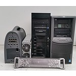 Lot of Assorted IT Equipment - Workstations, Power Module and Face Plates