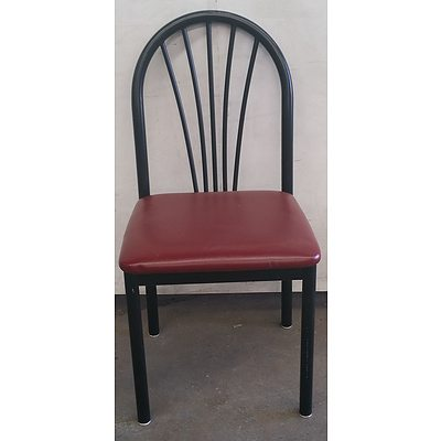 Black & Red Catering Chairs - Lot Of 18