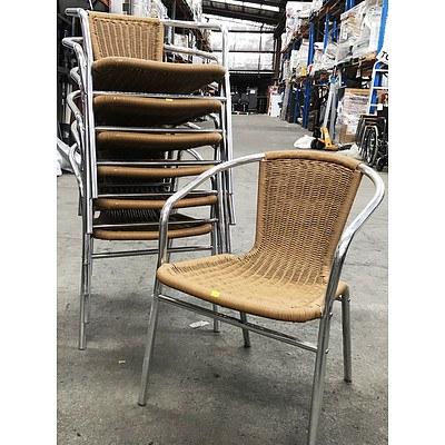 Seven Mocha Aluminium Outdoor Chairs