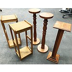 5 Pine Pedestals