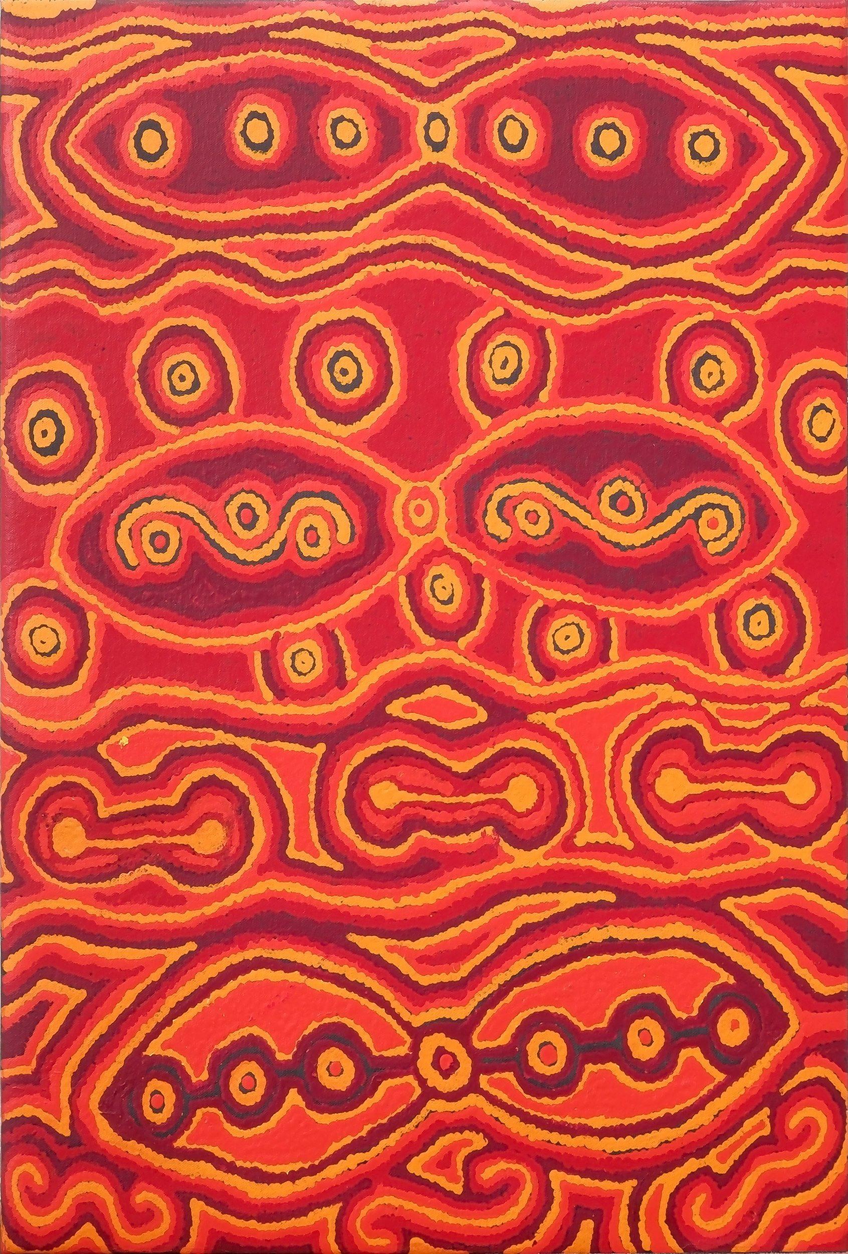 'Teresa Baker (1977-) Kanpi 2007, Acrylic on Canvas'