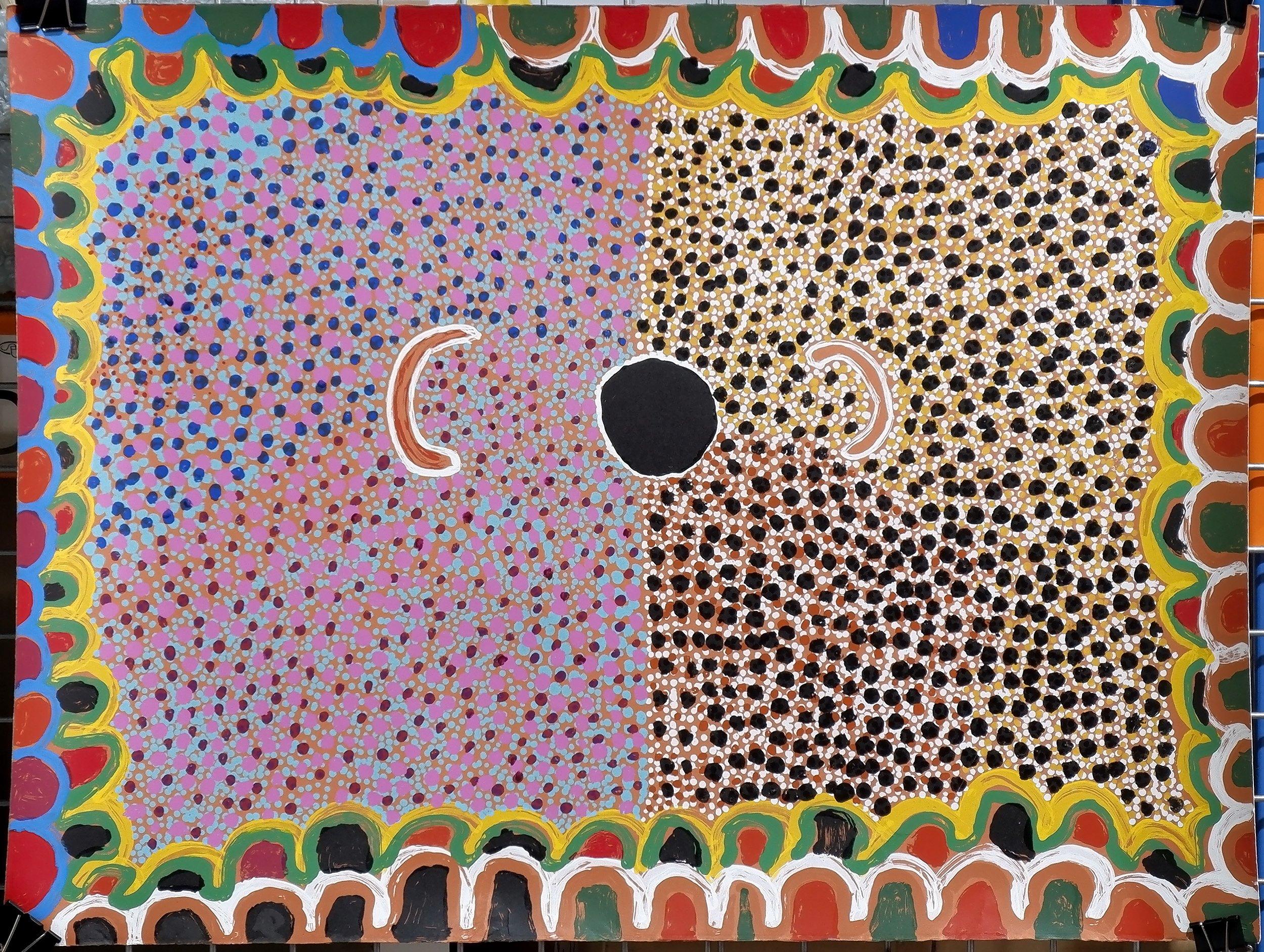 'Susie Bootja Bootja Napaltjarri (1935-2003) Acrylic on Paper 1999, Unframed'