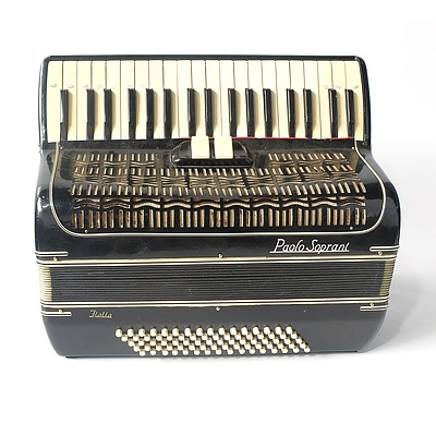 Paolo Soprani Piano Accordion Made In Italy in Felt Lined Carry Case