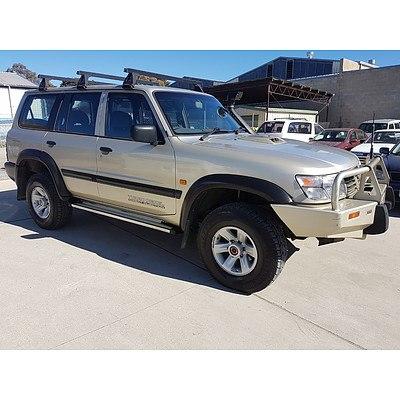 8/2000 Nissan Patrol ST (4x4) GU II 4d Wagon Gold 3.0L