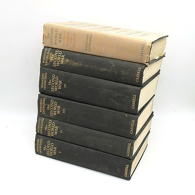 Volumes  I-VI 'The Second World War' By Winston Churchill