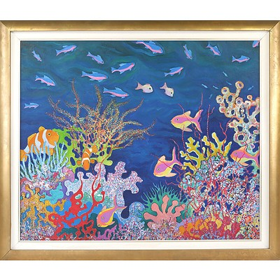 David Hill (Britain 1947-) Coral Reef Oil on Canvas