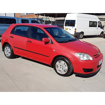 6/2006 Toyota Corolla Ascent SECA ZZE122R MY06 UPGRADE 5d Hatchback Red 1.8L