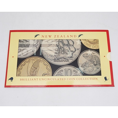 1990 New Zealand Brilliant Uncirculated Coin Collection
