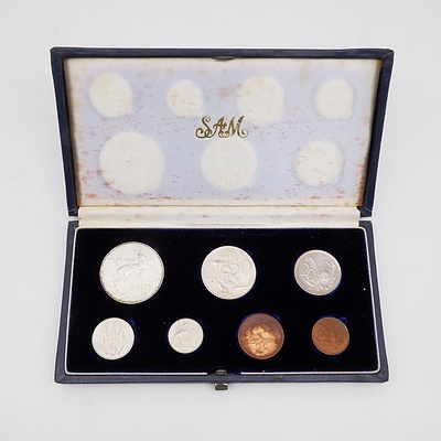 1966 South African Proof Coin Set with Sterling Silver Rand