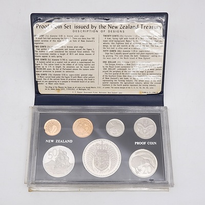1972 New Zealand Proof Coin Set