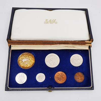 1967 South African Proof Coin Set with Sterling Silver Rand