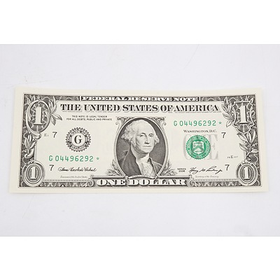2006 US Star One Dollar  Banknote