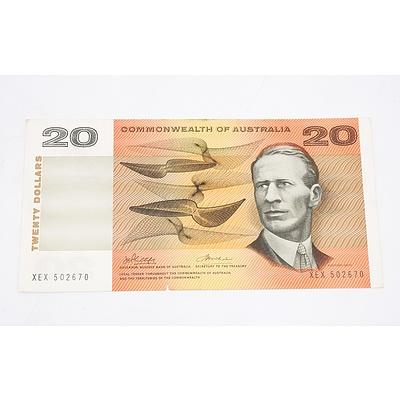 1972 Australian Twenty Dollar Banknote Phillips/Wheeler
