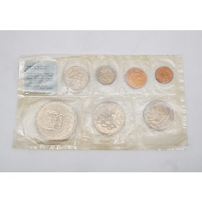 1967 New Zealand Proof Coin Set - First Minting with Decimal Coins