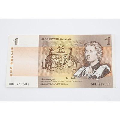 1977 Australian $1.00 Banknote Knight/Stone