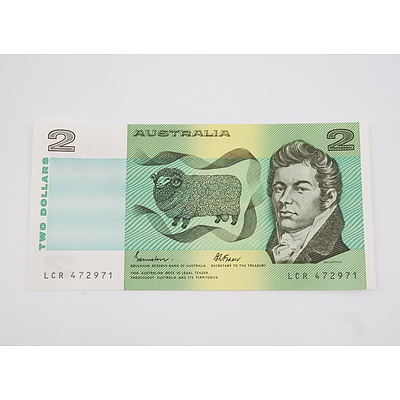 1985 Australian $2.00 Banknote Johnston/Fraser - Uncirculated