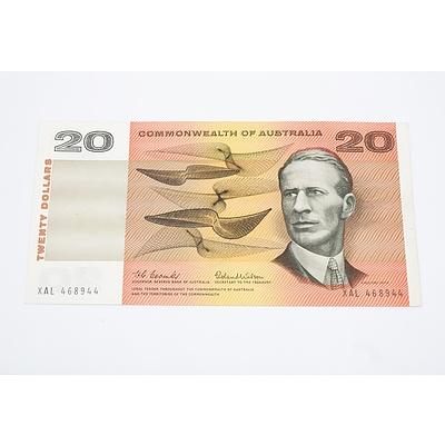 1966 Australian $20 Banknote Coombs/Wilson