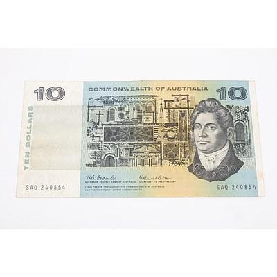 1966 Australian $10 Banknote Coombs/Wilson