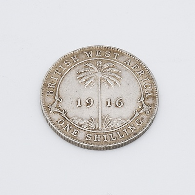 1916 British West Africa Silver One Shilling