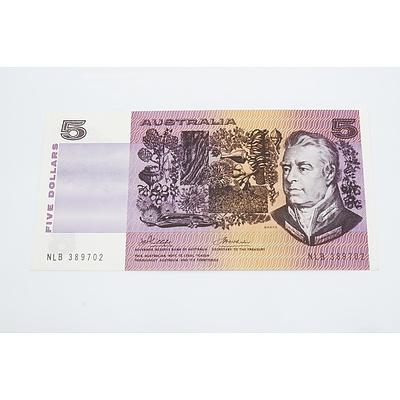 1974 Australian Five Dollar Banknote - Uncirculated