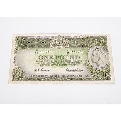 Australia One Pound Banknote