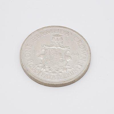 1964 One Bermuda Silver Crown