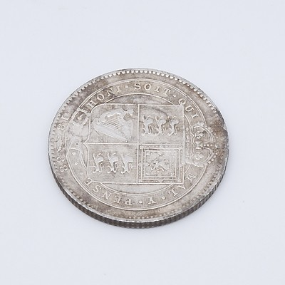 1888 Queen Victoria One Shilling .925 Silver