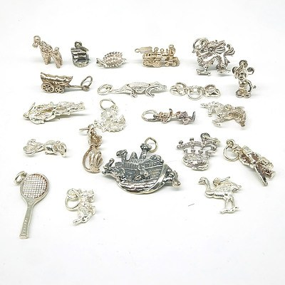 Sterling Silver Charms, 40g