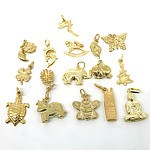 Various 9ct Yellow Gold Charms, 12.5g