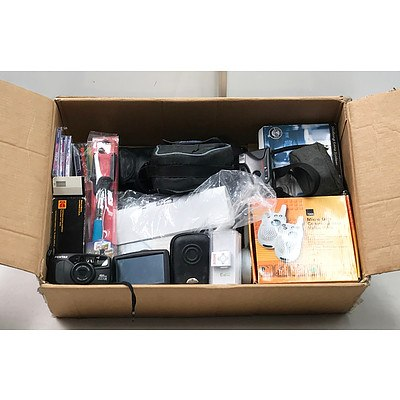 Lot of Camera's Accessories & Electronics