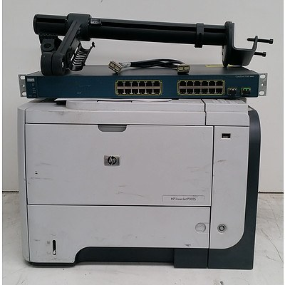 Bulk Lot of Assorted IT & Office Equipment - Printer, Fax Machine & Monitor Arms