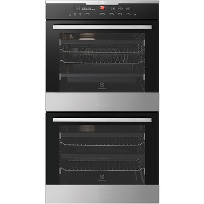 Electrolux EVE636SC 60cm Multi Function Built In Electric Double Oven with IOI Controller - RRP $2,406 - Brand New