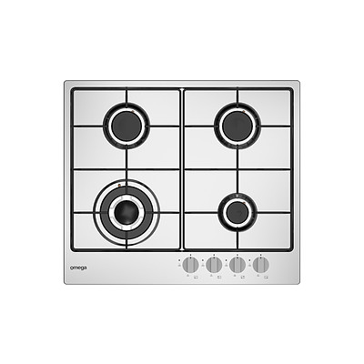 Omega OCG61X 60cm Natural Gas Cooktop - RRP $499 - Brand New