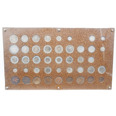 Coin Board with 43 Coins
