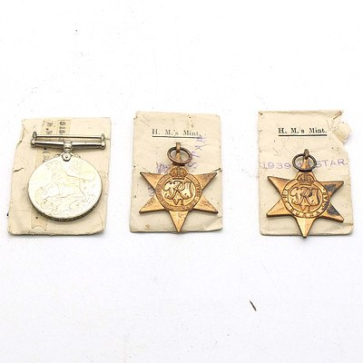 The Burma Star, The 1939-1945 Star, and The 1939-1945 Medal