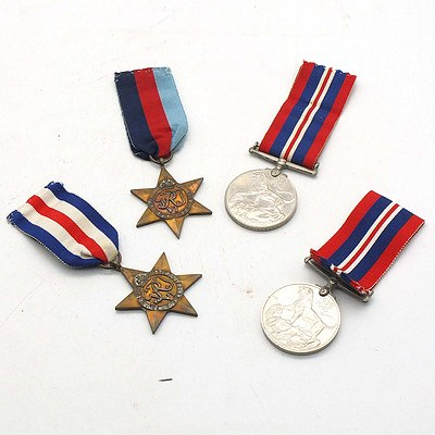 Two 1939-1945 Medals, The France and German Star and The 1939-1945 Star