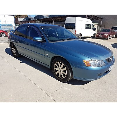 2/2004 Holden Commodore Silver Anniversary VYII 4d Sedan Blue 3.8L