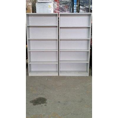 Grey Laminate Bookshelves Lot of Two
