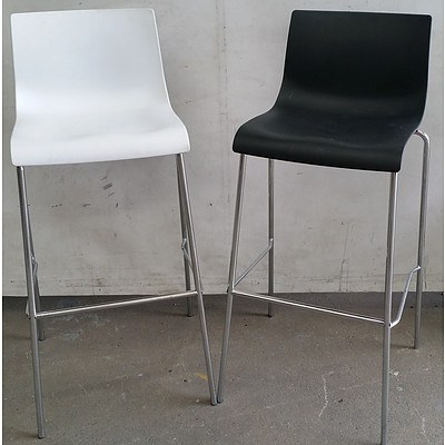 Bar/Cafe Bench Stools - Lot of Eight