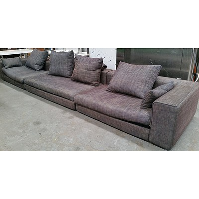 Modular Substantial Six Seater Lounge Suite