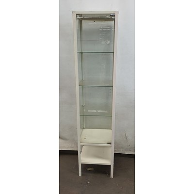Glass 5 Tier Display Cabinet