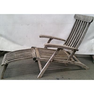 Plantation Teak Outdoor Steamer Arm Chair