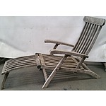 Plantation Teak Outdoor Steamer Arm Chair