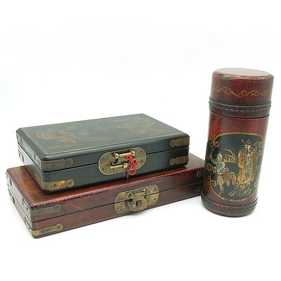 Three Chinese Game Sets, Modern