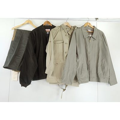 Four XL Men's Coats and One Size 38 Pants