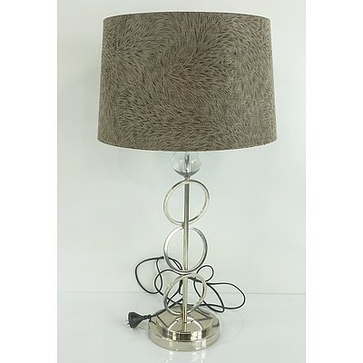 Contemporary Fur-lined Lamp
