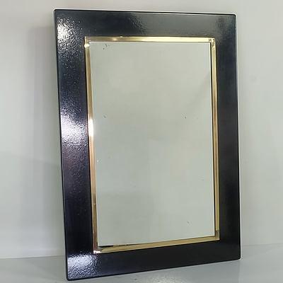 Black Mirror With Gold Trim