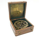 Reproduction Stanley London Sun Dial Compass