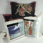 Group of Homewares Including Three Sets of Pillows and European Pillows and More