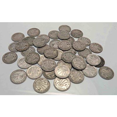 Australia Silver Threepences 1952-1963 (X40)